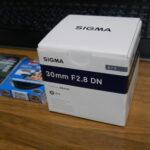 SIGMA 30mm F2.8 DNが届いた